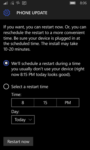 Restart Windows Phone