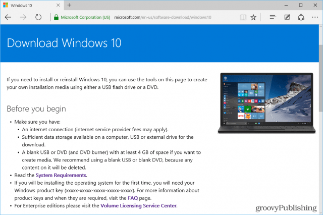 download windows media creation tool windows 10 64 bit