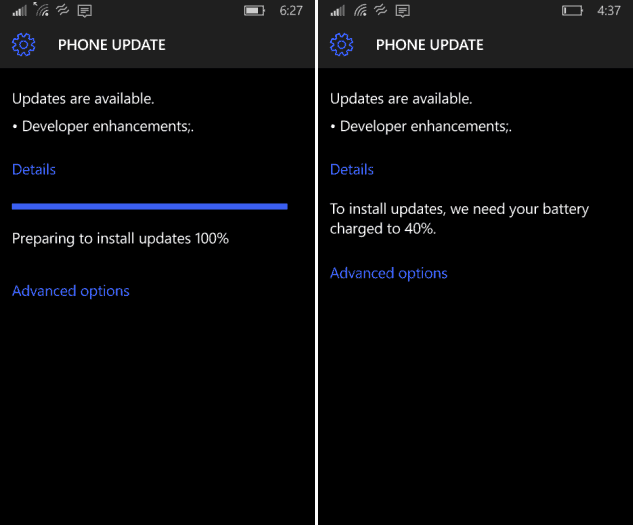 Windows 10 Phone Update