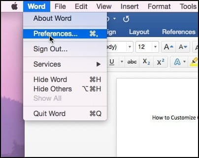 office 2016 for Mac change color theme