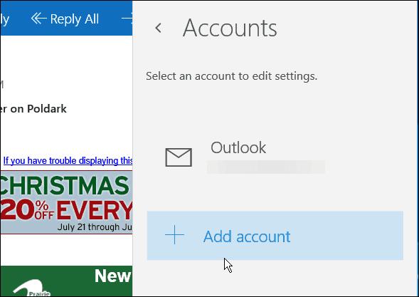 Mail App Windows 10
