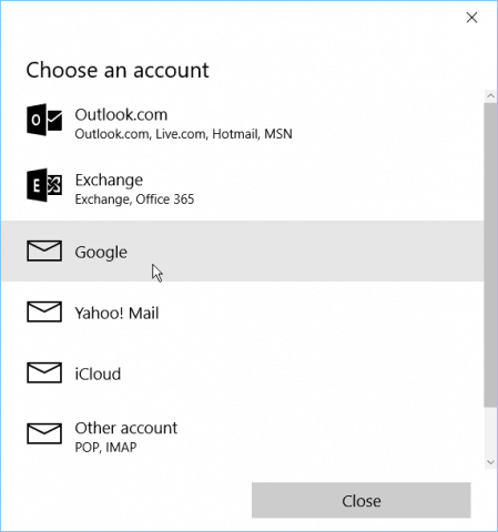 Add Gmail and Other Email to Windows 10 Mail & Calendar (Updated)