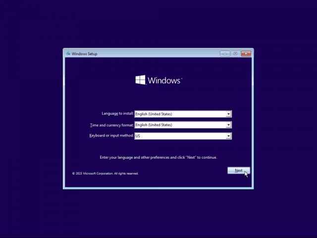 01 Language Setup Windows 10 Clean Install