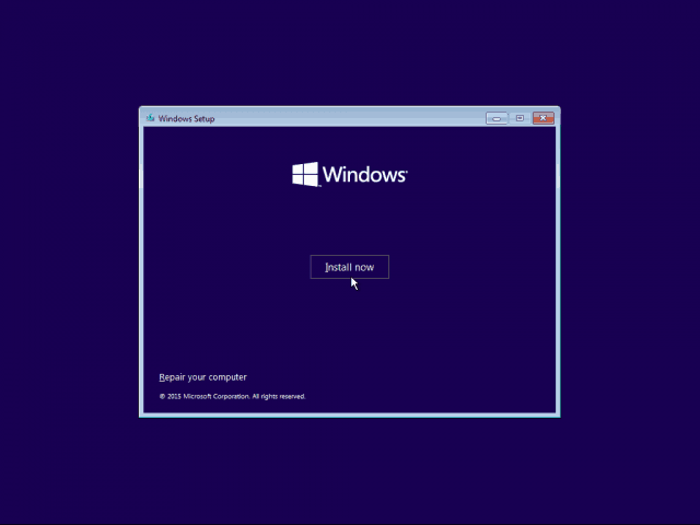 02 Install Now Windows 10 Clean Install