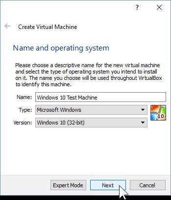 02 Name the new Virtual Machine (Windows 10 Install)