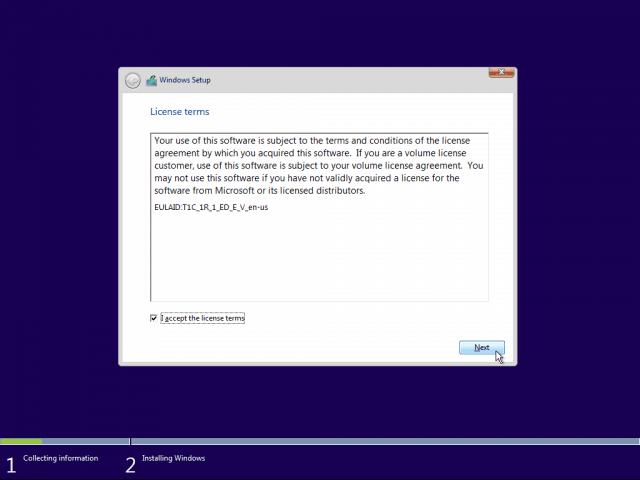 03 EULA Windows 10 Clean Install