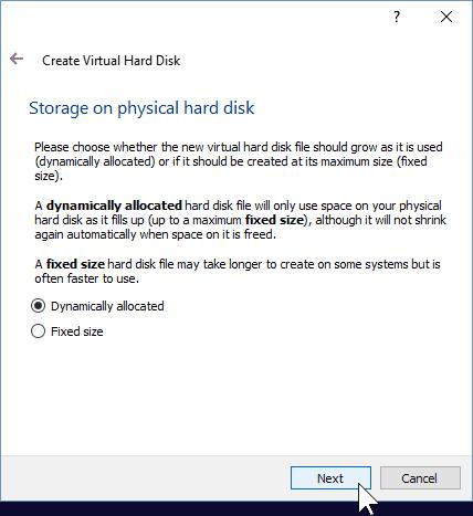 06 Determine Type of Storage for VM (Windows 10 Install)