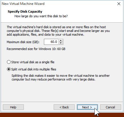 06 Virtual Hard Disk Size