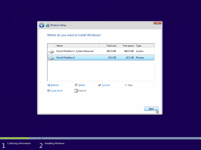 09 Select Primary Partition