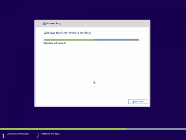 12 Restaring Windows 10 Clean Install