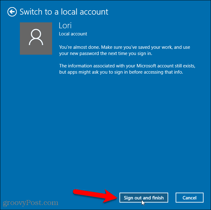 How to Create a Local Account on Windows 10