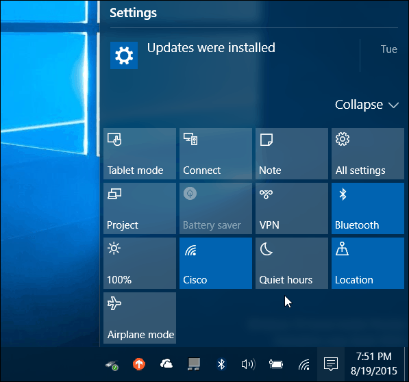 How to Configure and Use Windows 10 Action Center