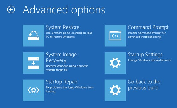 Advanced Boot Options Windows 10