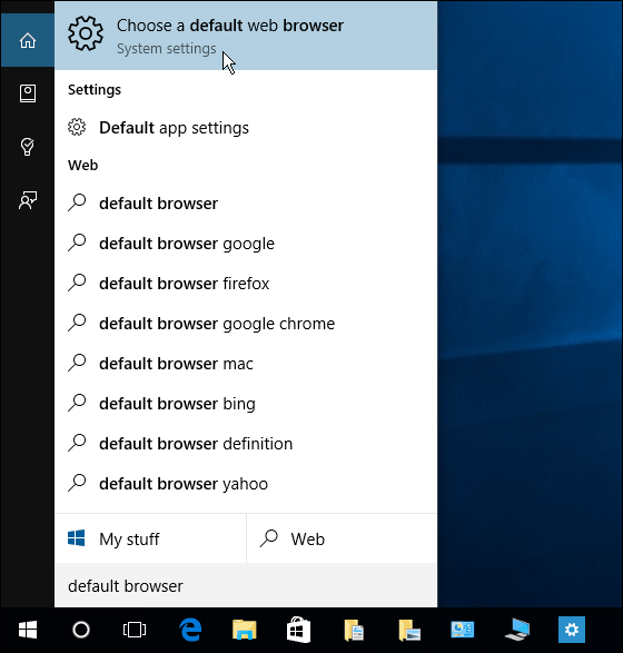 Cortana Search Windows 10