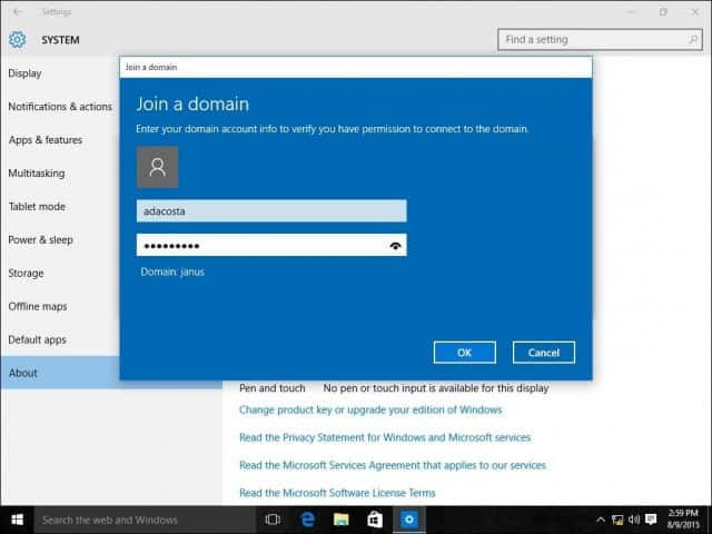 remove win 10 machine from domain