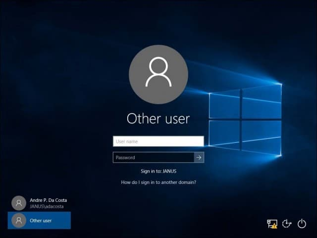how to create domain account in windows 10