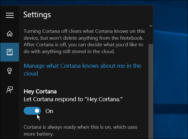 how to turn on cortana search bar