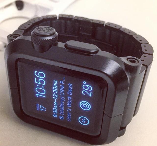 Lunatik EPIK Imperial Collection:  Black Anodized Aluminum Case for Apple Watch