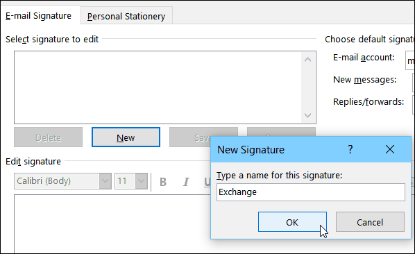 New Outlook 2016 Signature