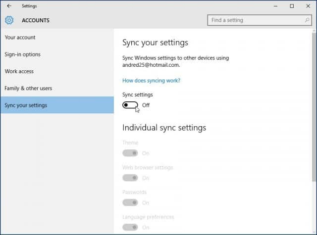 Turn Automatic Sync & Backups off