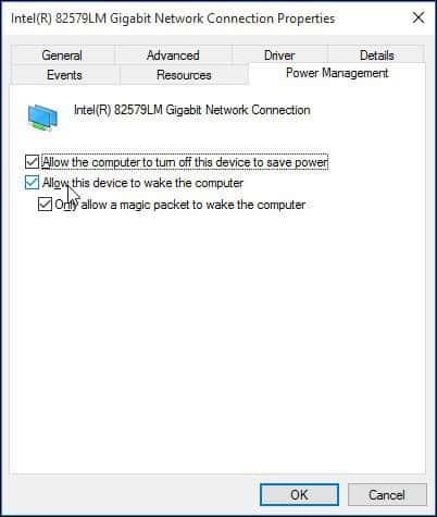 SOLVED: Making Wake-on-Lan (WOL) work in Windows 10 / 8.x