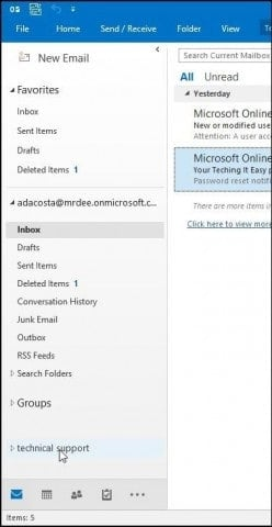 Outlook mailbox