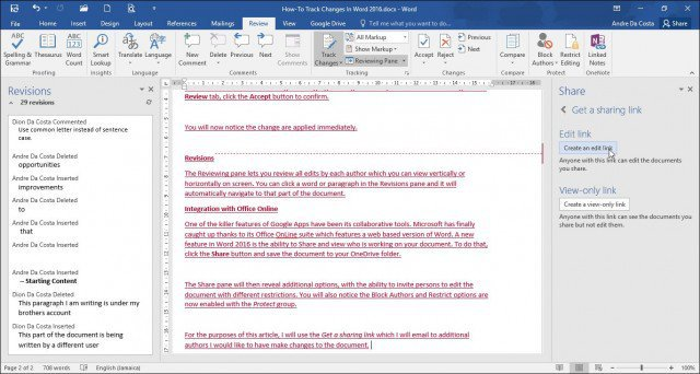 How to Track Changes in Microsoft Word Documents