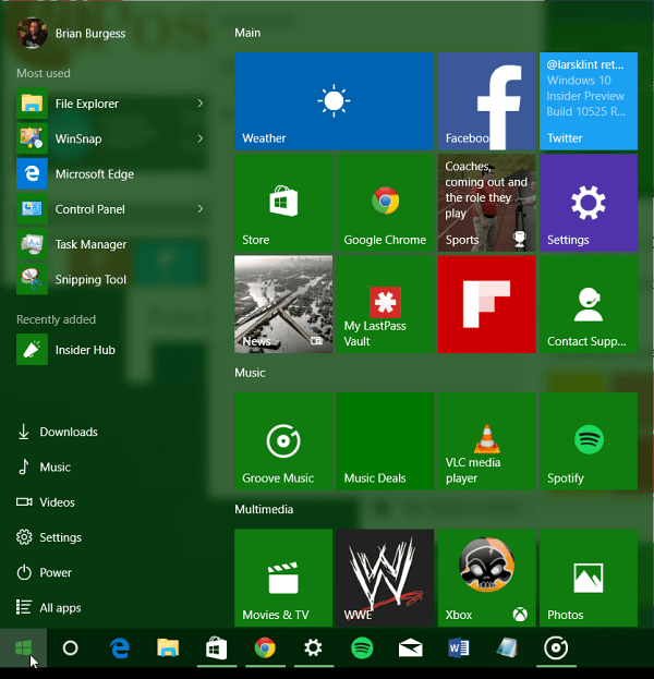 Start Menu Color