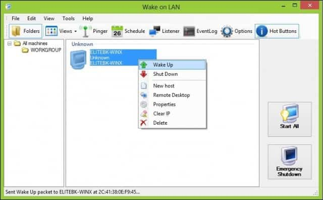 Wake On Lan Tool