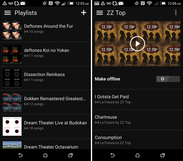 Microsoft Groove Music on Android