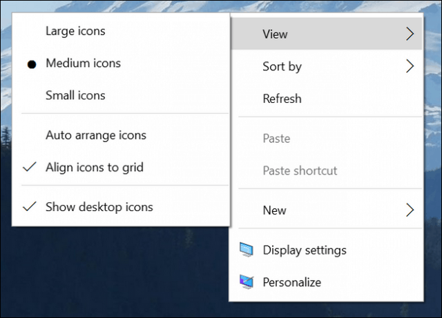 context menu updates