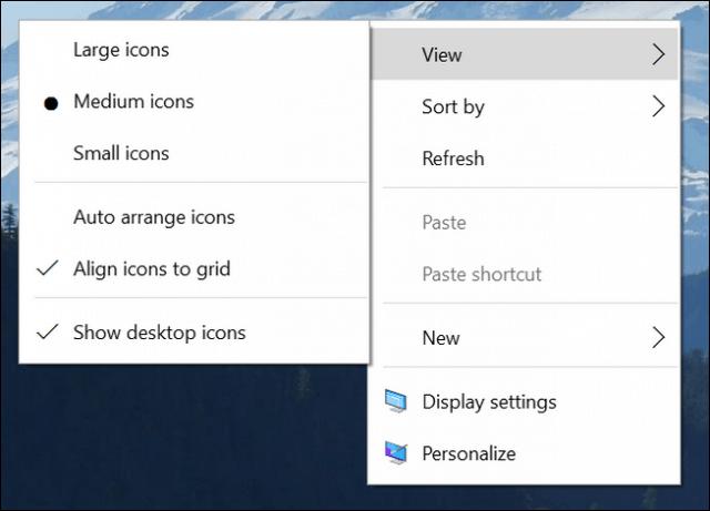 context menu updates