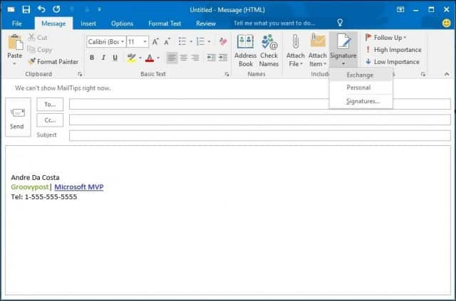 Outlook  How To Create And Use A Signature