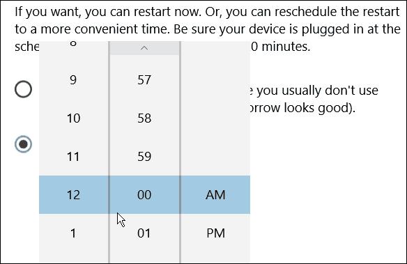 Restart time