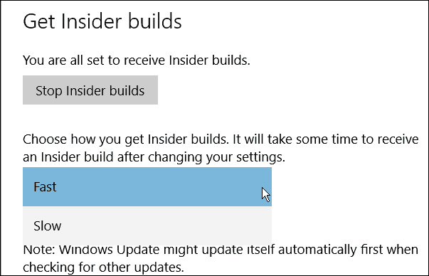 Windows 10 Insider builds