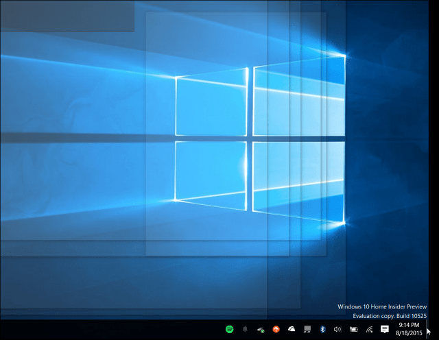 Windows 10 Tip: Enable Desktop Peek From The Taskbar (Updated