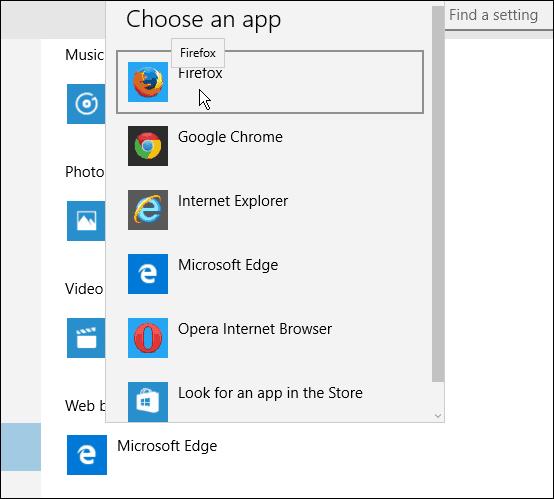 Choose Default Browser