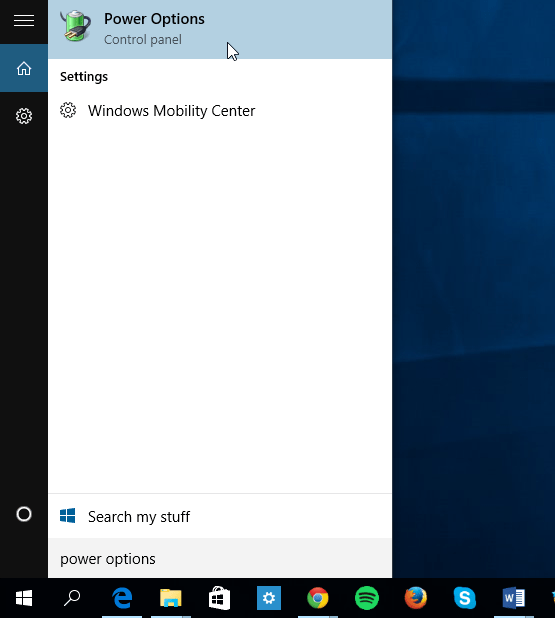Windows 10 Cortana search turned off