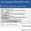 track changes word