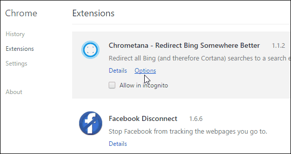 2 Chrometana Options