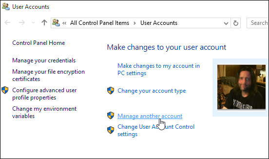 2 Manage Another Account Windows 10