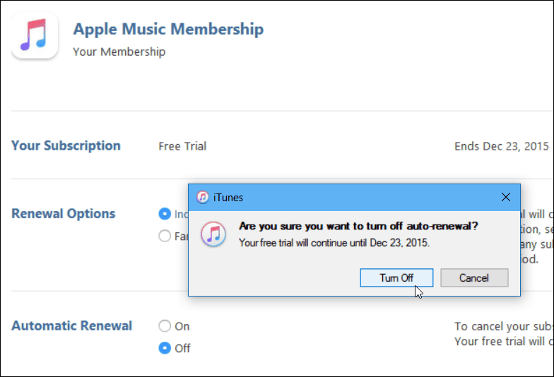 4 iTunes Verify Auto-renw