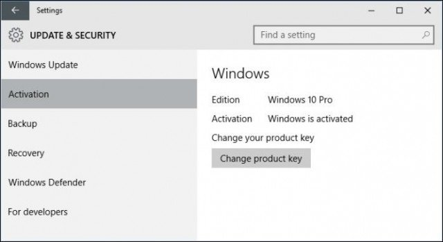 key activate windows 10 pro 2018