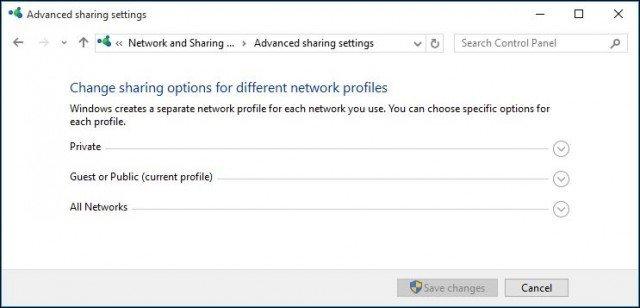 Adjust network profiles