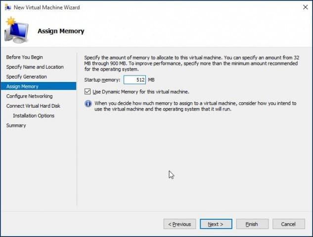 Setup a Virtual Machine with Windows 10 Hyper-V