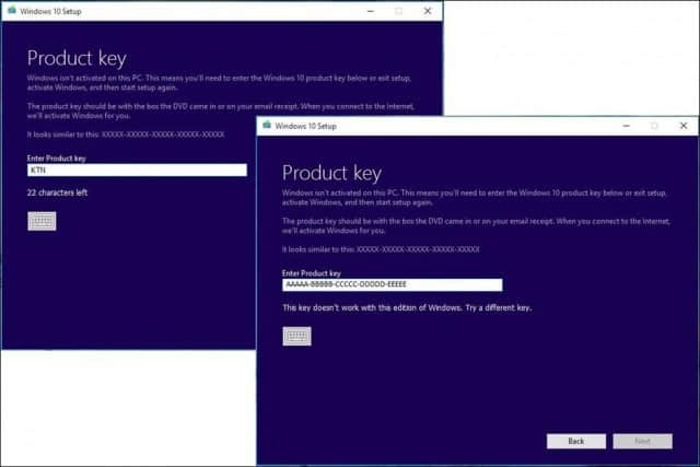 Product key Issue