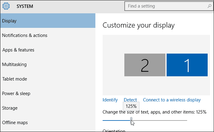 Text Size Settings Windows 10