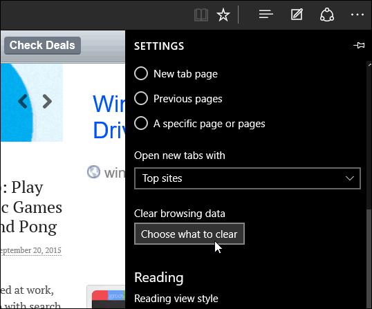 delete browsing button