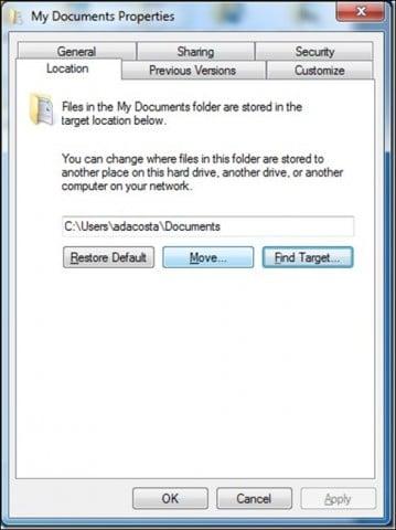 redirect personal folder