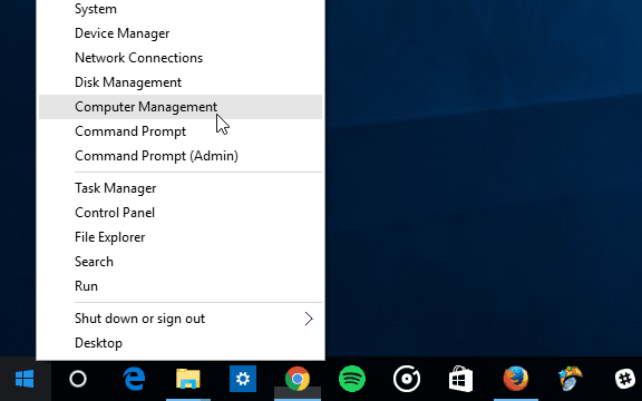 2 quick access Windows 10 Computer Management